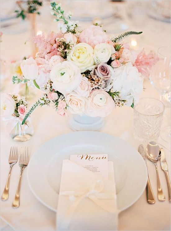 menu on table & How to Decorate Your Quinceanera Reception Tables - Quinceanera