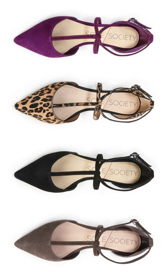 suede pointed flats