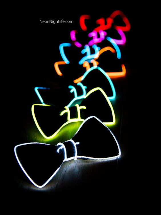 glow in the dark ties
